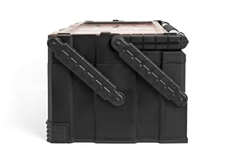 Product Image 7: KETER 22 Inch Cantilever Plastic Portable Tool Box Organizer with Metal Latches for Small Parts, Hardware and Tool Storage and Organization