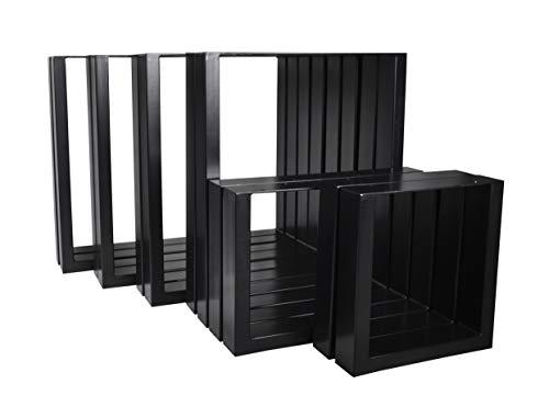 Magnetic Mobel 2X Tischgestell Tischkufen Rohstahl Design Industrielook Tischbeine Tischuntergestell Metall Stahl schwarz (900x720)