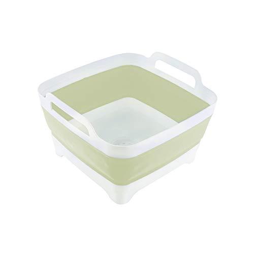 THANSTAR Dish Basin Collapsible with Drain Plug Portable Wash...