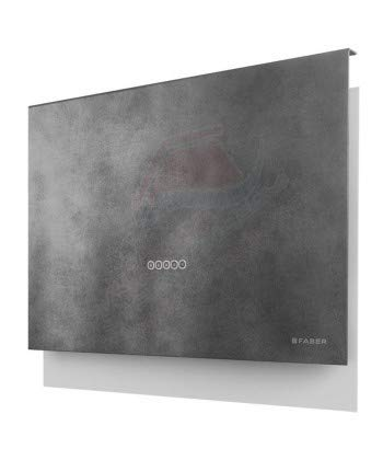 Faber - Cappa a parete TALIKA finitura cemento grigio scuro da 80 cm