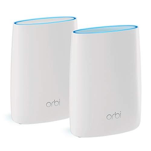 Netgear Orbi RBK50 - Sistema Mesh Wi-Fi TriBanda AC3000, cobertura de hasta 350 m², kit de 2, con 1 router y 1 satélite