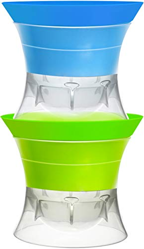 Set di 2 palline rotonde in silicone per cubetti di ghiaccio, 6,3 cm, ideali per feste, whisky e tutte le bevande fredde