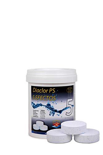 Cloro para piscinas DIACLOR PS 5 EFECTOS 1 KG - 5 Pastillas