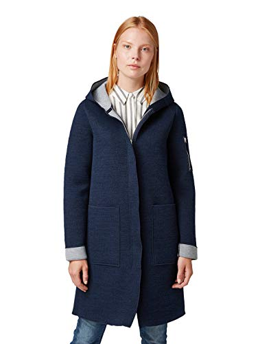 TOM TAILOR für Frauen Strick & Sweatshirts Lange Sweatjacke Sky Captain Blue, M