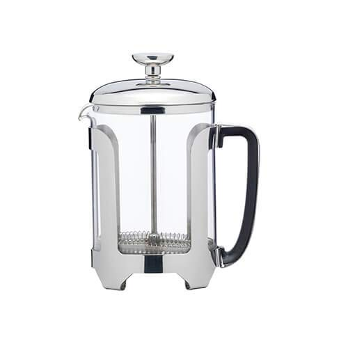 KitchenCraft Le`Xpress French Press Cafetiere, Kaffeepresse aus Edelstahl mit Glaskrug, Hitzeresistentes Borosilikatglas, 500 ml/2 Tassen Volumen