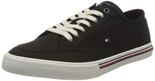 Tommy Hilfiger Core Corporate Textile Sneaker, Zapatillas Hombre, Negro (Black), 44 EU