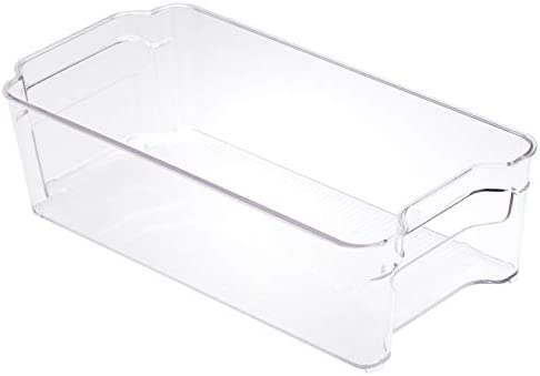 Amazon Basics Plastic Fridge Storage Bin - Medium (2-Pack)