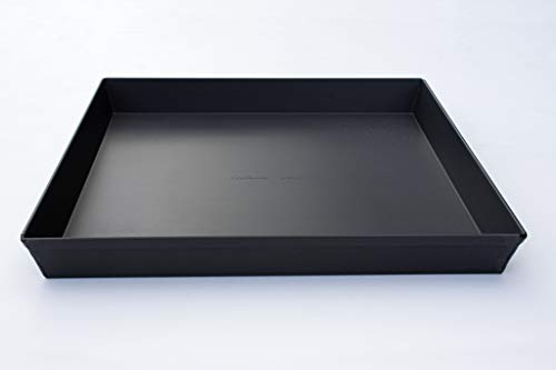 LloydPans 14x14x1.5 inch Style, Pre-Seasoned Sicilian Pizza Pan, 14x14x1.5 inches, Dark Gray