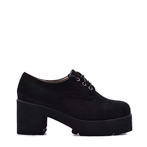 Zapatos de Mujer con Plataforma y Cordones de Ante SS18 (37)