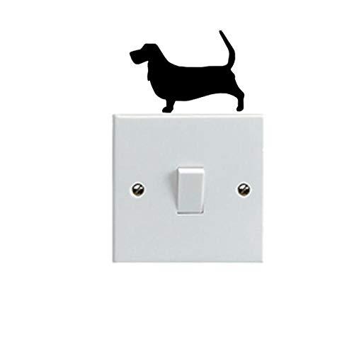 amayituo Basset Hound Dog Cute Haustier Hund Schalter Formen Vinyl2SS0135Light Switch