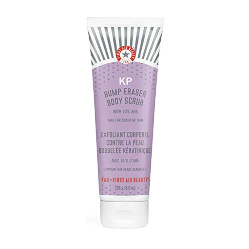 First Aid Beauty KP Bump Eraser Body Scrub Exfoliant for Keratosis Pilaris with 10% AHA