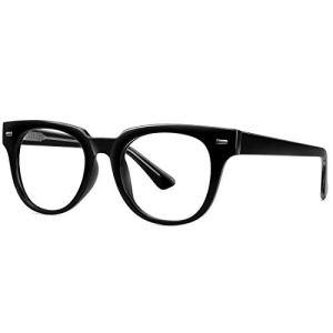 STORYCOAST Fashion Eyeglasses TR90 Lightweight Non Prescription Square Glasses Frames for Women Men with UV Protection