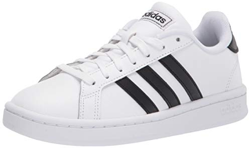 adidas mens Grand Court Sneaker, White/Black/White, 12 US
