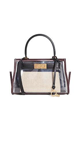 311IlyLgy5L Fabric: PVC/ canvas Leather trim , Logo key charm Length: 9in / 23cm