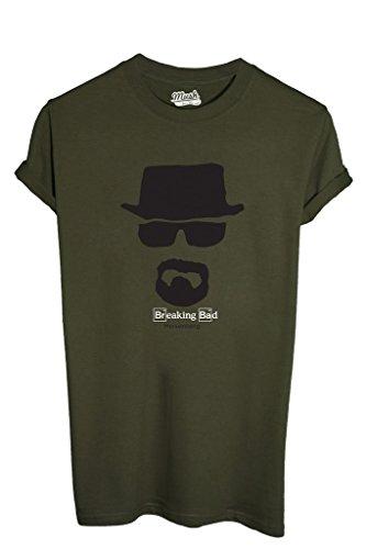 MUSH T-Shirt Heisenberg Breaking Bad - Serie TV by Dress Your Style - Uomo-L-Verde Militare
