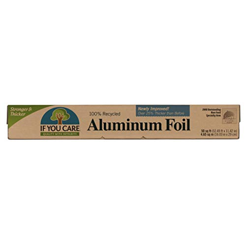 IF YOU CARE 100% Recycled Aluminum Foil Roll, 50 Sq. Ft. Roll