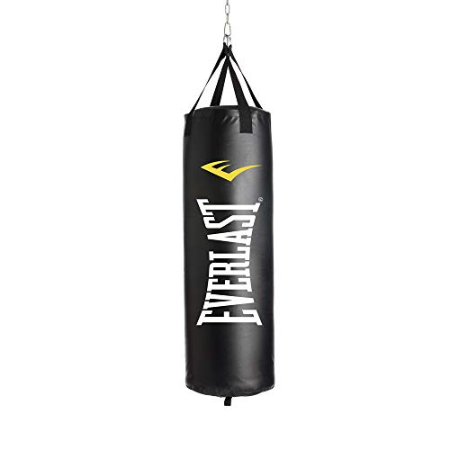 Everlast 40LB Heavy Bag Heavy Punching Bags, Black/White,