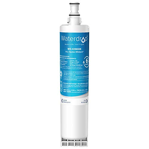 Waterdrop 4396508 NSF 42&372 Certified Refrigerator Water Filter, Compatible with Whirlpool 4396508, 4396510, 4392857, Kenmore 46-9010, NLC240V, EveryDrop Filter 5, EDR5RXD1, PUR W10186668
