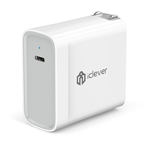 [USB C PD Charger] iClever 45W USB Type C Power Delivery 2.0 Wall Charger for MacBook 2015 / 2016, Nintendo Switch, iPhone X /8 /8 Plus,Samsung S9/ S8/ S7, Pixel C, MOTO Z, HuaWei Mate 10, Mate Book