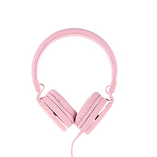 MINISO Foldable Headphone Comfortable Rotatable Adjustable Headphone for Android and iOS Mobile Phones,Computers,Laptops,Music Player,Pink