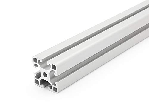 Perfil de aluminio tipo-I con ranura de 8 mm, de 40x 40 (largo), longitudes estándares