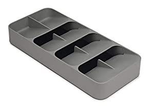 Unique design creates more space in the drawer Individual, stacked compartments for different cutlery Cutlery icons for easy identification and organization Non-slip base. Fits up to 48 pieces of cutlery. Suitable for drawers with a minimum height of...