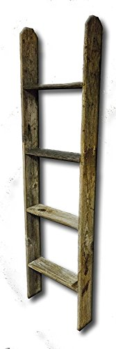 9. Tall Primitive Barnwood Display Ladder