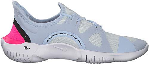 Nike Free RN 5.0 Women's Running Shoe White/Black-Half Blue-Hyper Pink 8.0