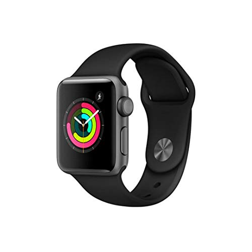 Apple Watch Series 3, 38 Mm, Space Gray Aluminum, Black Sport Band and Classic Clasp, Mqkv2Bz / A