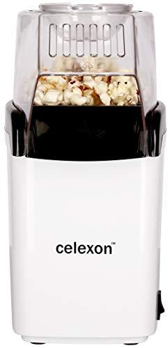 celexon CinePop CP150 Popcorn-Maschine - 13x19x29cm - Gewicht: 900g - weiß - einfach zu reinigen - ohne Öl/fettarm - Popcorn-Maker
