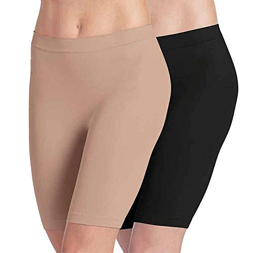 Jockey Ladies' Skimmies Slip Short Smooth Lightweight Mid-Length, 2 Pack
