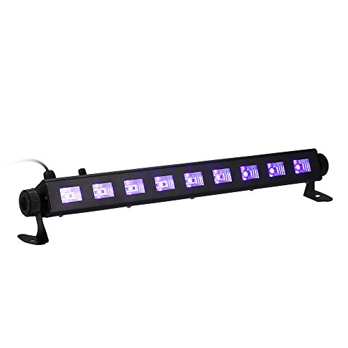 UV Luce LED 27W,Tomshine Luce Nera Barra a LED 9LED Potenza Totale Stage con Telecomando per KTV Ba