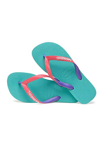 Havaianas Top Mix, Chanclas Unisex Adulto, Multicolor (Lake Green/Flamingo), 37/38 EU