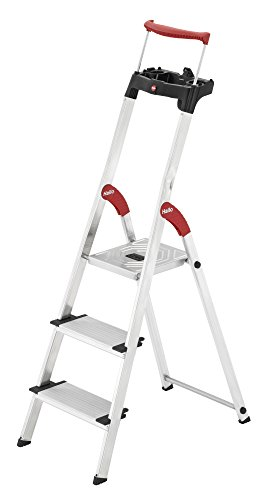 10. Hailo 4343-001 Safety Plus 150 kg Capacity Deluxe Steps (3 Steps)