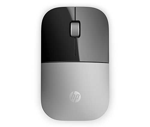 HP Z3700 RF Raton óptico inalámbrico 1200 DPI Plateado - Ratón (Oficina, Botones, Rueda, Pilas)