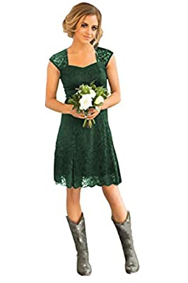 Design:A Line,Lace, Cap Sleeves,Sweetheart,Knee Length, Lace Up Back OCCASION: This dress suits for homecoming, prom, evening cocktail party, wedding party, pageant, office, club, family gathering or any other formal occasions SIZE: Please reference ...