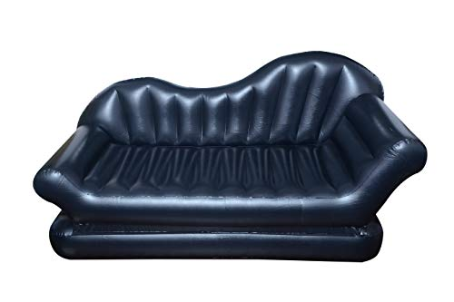 DHRUVESH INDUSTRIES Inflatable AIR Lounge Comfort Sofa Bed Mattress with Pump (3 Seater)