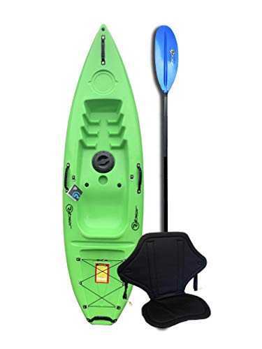 Riber Standard Sit On Top Kayak - Ideal for Beginners - Starter Pack - Multiple Colours (Green)