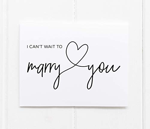I Can't Wait to Marry You, Bride to Groom Wedding Day Card,...