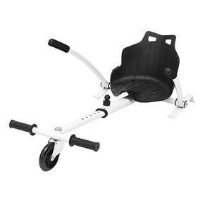 ZJY Hoverboard Go Kart Ajustable - con Asiento y Espuma con suspensión Trasera - Adecuado para 6.5
