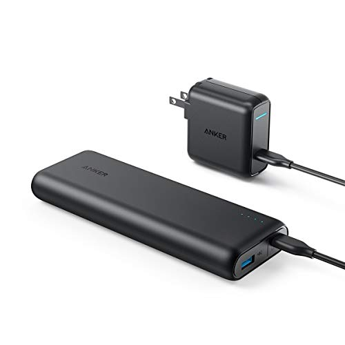 Anker PowerCore Speed 20000 PD, 20100mAh Portable Charger & 30W Power Delivery Wall Charger Bundle, Input & Output Type C Power Bank for Nexus 5X 6P, LG G5, iPhone 8 / X and Macbooks
