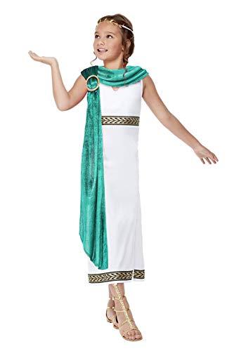 Smiffy's Deluxe Girls Empire Costume Disfraz de Imperio Romano para niñas de Smiffys, color blanco, M-7-9 Years 71013M