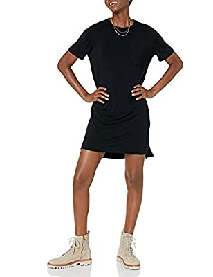 Comfortable, flowy fit Soft, smooth, luxe jersey with beautiful drape Crew neckline An Amazon brand