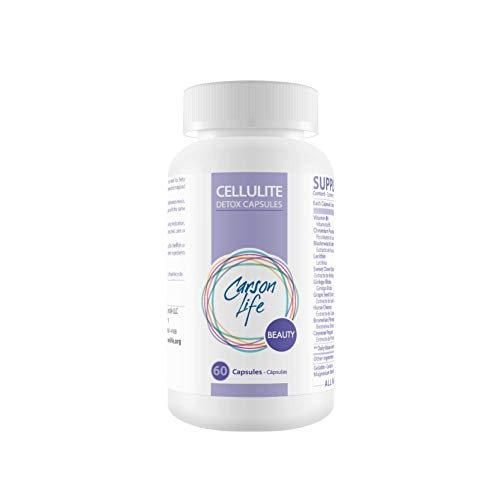 CARSON LIFE Anti Cellulite Detox Pills Helps Prevent and Eliminate Cellulite - Supplement for Fat Reduction and Smoother Skin - 60 Pills  Cellulite Remover - Made in The USA