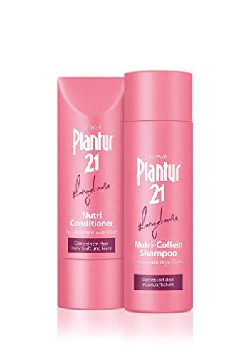 Plantur 21#langehaare Nutri-Coffein Shampoo & Nutri-Conditioner im Set - Pflegeshampoo und Pflegespülung für langes Haar - silikonfrei - 1 x 200 ml / 1 x 175 ml