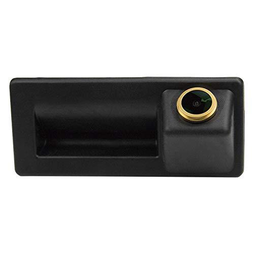 HD D'oro Telecamera per retromarcia(1280x720p) Telecamere posteriori impermeabile Visone Notturna Retrocamera per Audi A4/A5/A6/Q3/Q5/Passat B5 B6 B7 Tiguan/Golf 6/Touran/Jetta/Sharan/Touareg Cayenne