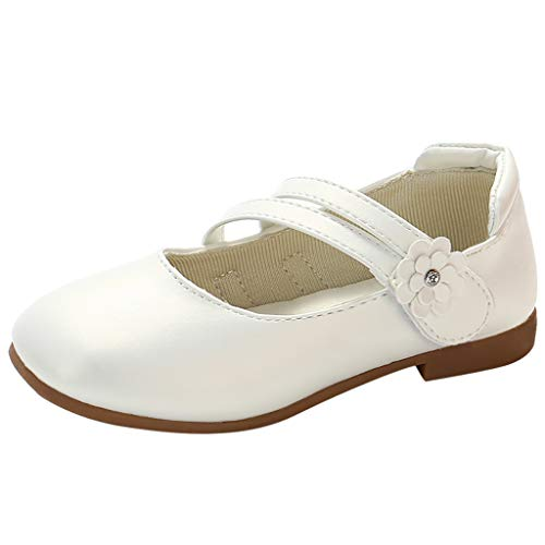 YWLINK Zapatos para NiñOs,NiñAs De Los NiñOs Flores Dulces Zapatos PequeñOs Zapatos De Princesa Zapatos Solos Zapatos Frescos Zapatos De Princesa Zapatos De Baile(Blanco,26EU)