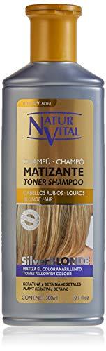 NaturVital SilverBlonde Champú Matizante para Cabellos Rubios - 300ml