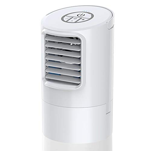 Personal Air Cooler, Mini Space Cooler, Desktop Air Conditioning Fan with 3 Wind Speeds, Compact Evaporative Cooler Air Humidifier, Clean Tank Technology, Perfect for Office Dorm