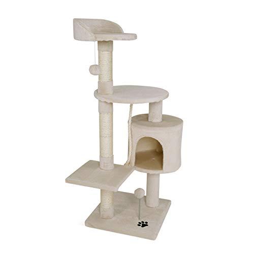 dibea Árbol rascador para Gatos, 112 cm (Beige)
